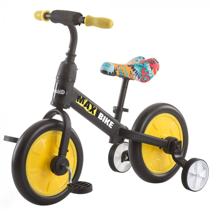 Bicicleta Max Bike yellow Chipolino, 3 ani+, Galben