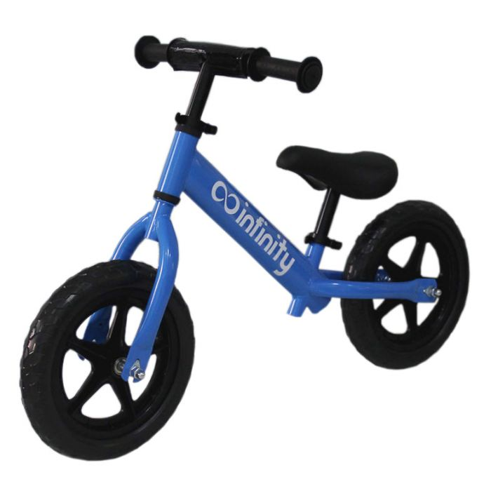 Bicicleta fara pedale 12 inch cadru otel albastru Infinity