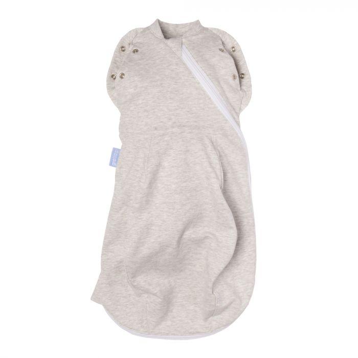 Sac de dormit Gro Grey Marl, Subtire, cu sistem de infasare Gro, 0 luni+