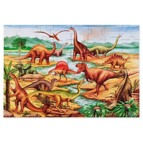 Puzzle de podea Dinozauri Melissa & Doug, 3 ani+