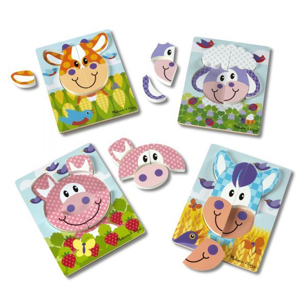 Set 4 puzzle Animale domestice Melissa & Doug, 24 luni+