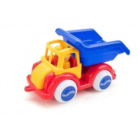 Camion Autobasculanta Jumbo VikingToys, cu 2 figurine, 12 luni+