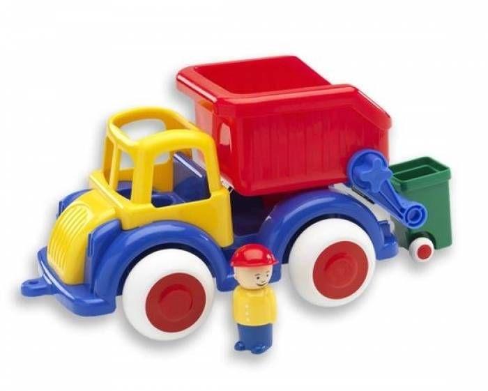 Camion Gunoi Jumbo VikingToys, cu 2 figurine, 12 luni+