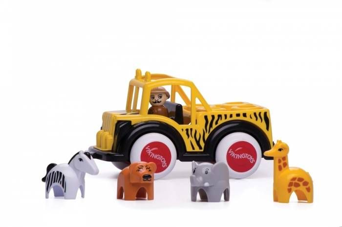Camion Safari cu ghid si animale Jumbo VikingToys, 12 luni+