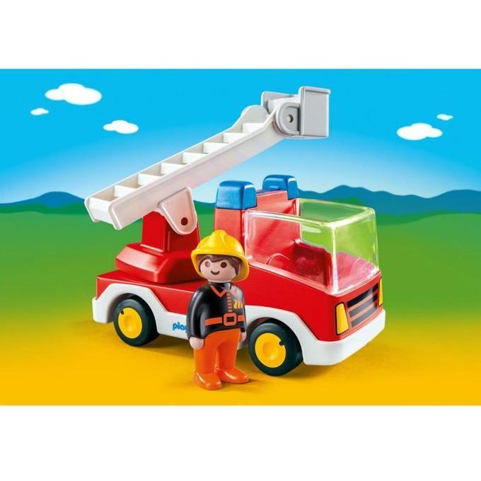 Camion de pompieri 1.2.3 Playmobil, 18 luni+