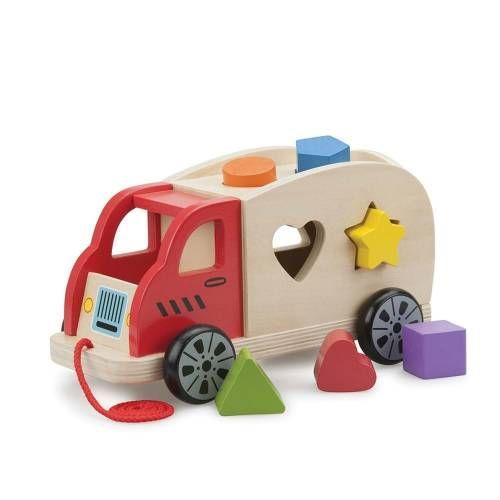 Camion Shape Sorter New Classic Toys, cu 6 forme, 12 luni+