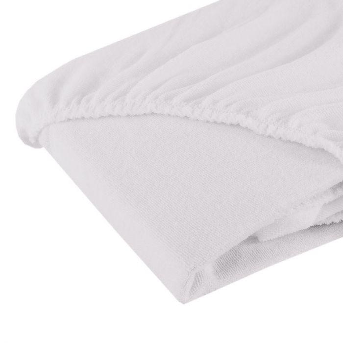 Cearsaf cu elastic Fiki Miki, din frotir, 120x60 cm, alb