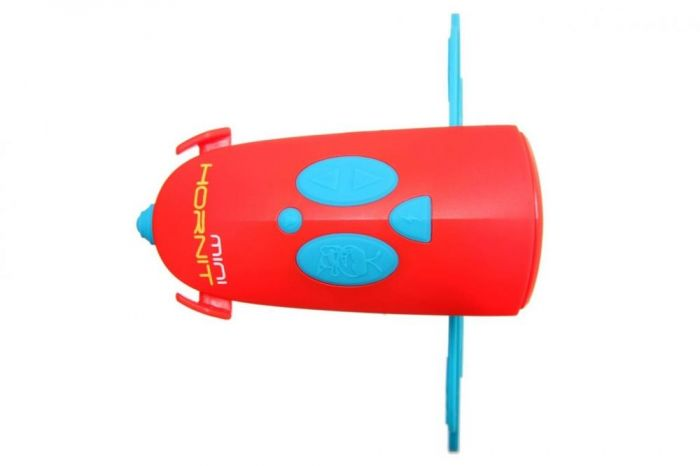 Claxon Mini Hornit Hornit, cu lumina, Rosu/Albastru