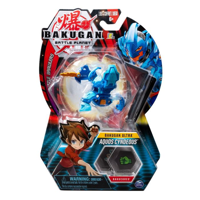 Joc Bakugan Bila Ultra Aquos Cyndeous Knight Blue Spin Master, 5 ani+