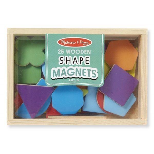 Forme geometrice magnetice Melissa & Doug, din lemn, 3 ani+