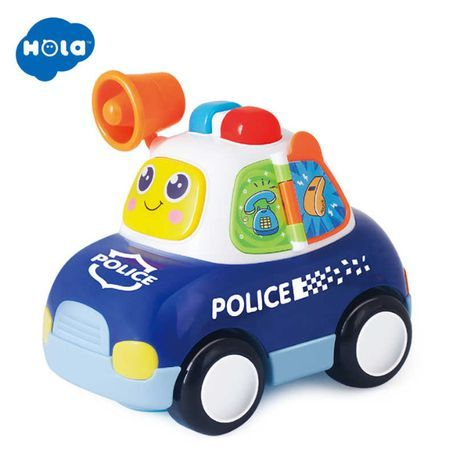 Masina de Politie Hola, cu lumini si sunete, 12 luni+