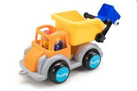 Camion Gunoi culori vesele Jumbo VikingToys, cu 2 figurine, 12 luni+