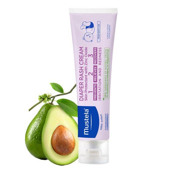 Crema Vitamin barrier 123 Mustela, pentru schimbatul scutecului, 100 ml