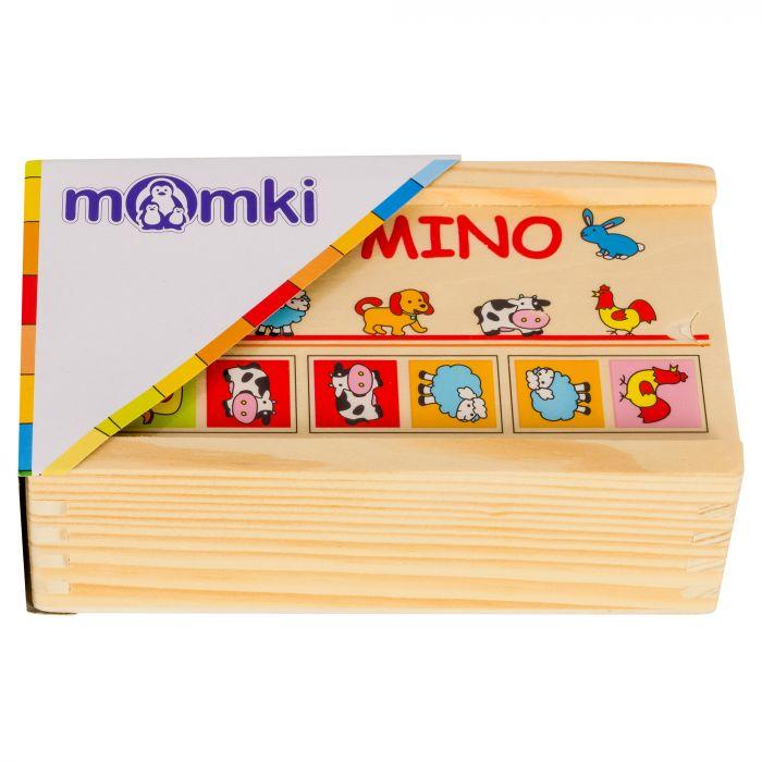 Domino din lemn cu animale domestice Momki