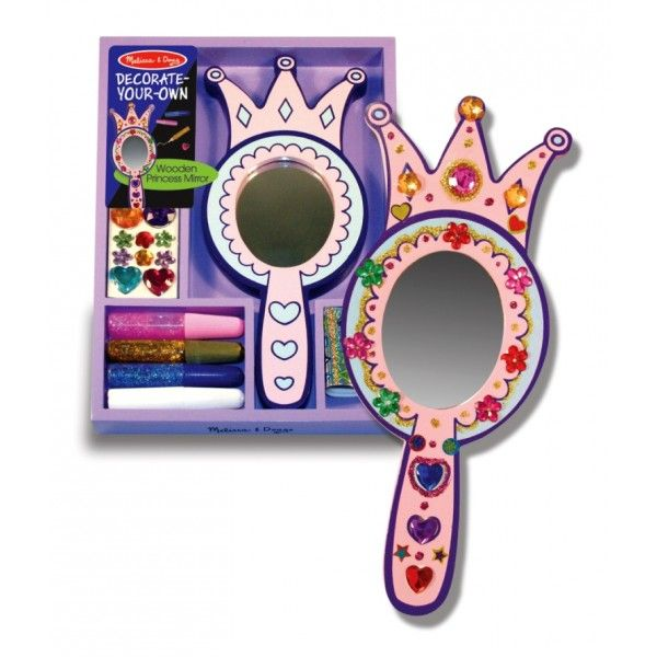 Set decorat oglinda de printesa Melissa & Doug, 4 ani+