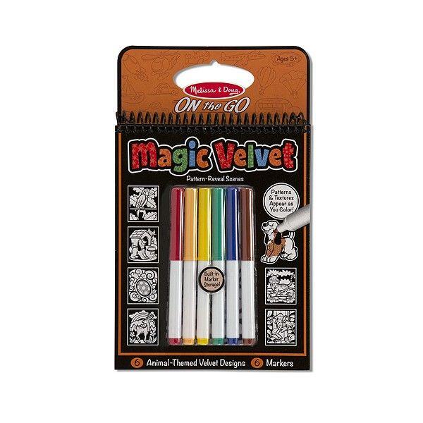 Carnet de colorat Catifeaua magica Animale Melissa & Doug, 5 ani+