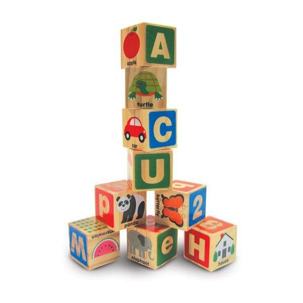 Cuburi Alfabetul Melissa & Doug, din lemn, 3 ani+