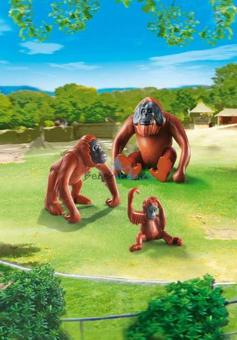 Familie de urangutani, Playmobil, 4 ani+