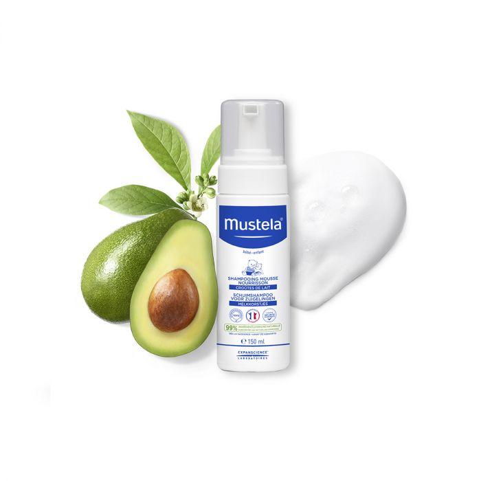 Sampon spuma Mustela, pentru nou nascuti, piele normala, 150 ml