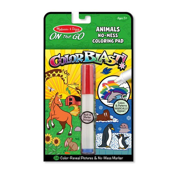 Carnet colorat Colorblat Animale Melissa & Doug, 3 ani+