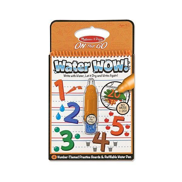Carnet de colorat Apa magica Numerele Melissa & Doug, 3 ani+