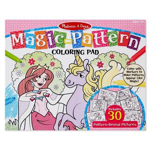 Bloc de colorat modele magice Melissa & Doug, Roz, 3 ani+