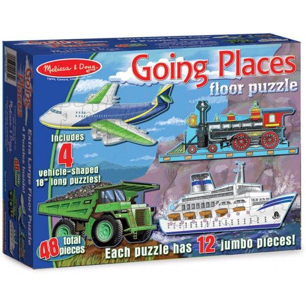 Puzzle de podea Mijloace de transport Melissa & Doug, 3 ani+