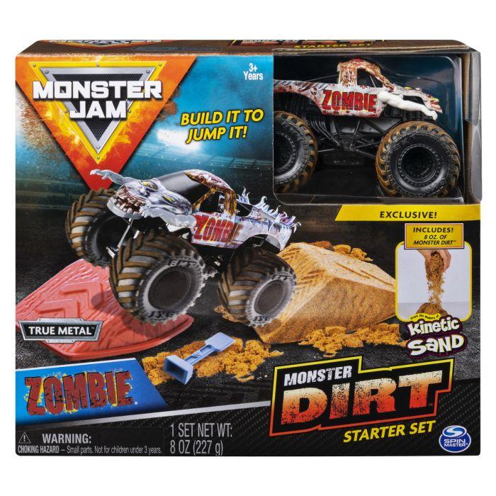 Set Acrobatii Monster Jam Zombie Spin Master, cu nisip, 3 ani+