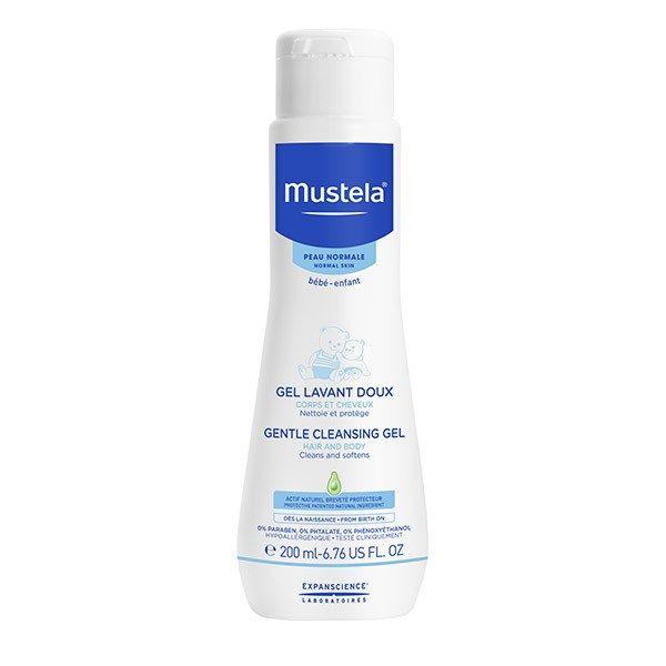 Gel de curatare Mustela, pentru par si corp, piele normala, 200 ml