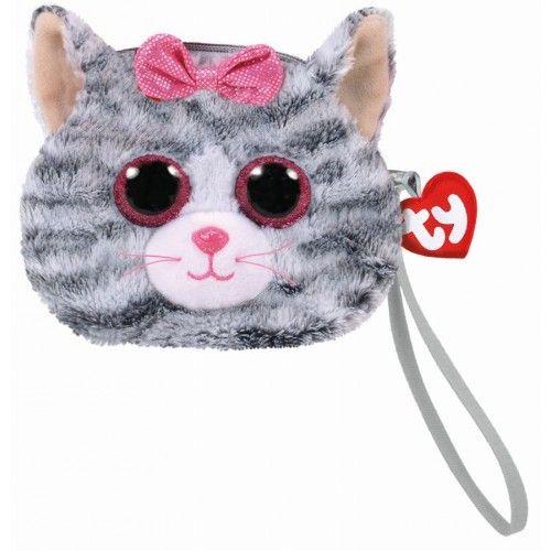 Gentuta De Mana Din Plus, Kiki Pisica Gri TY, 10 cm, 3 ani+