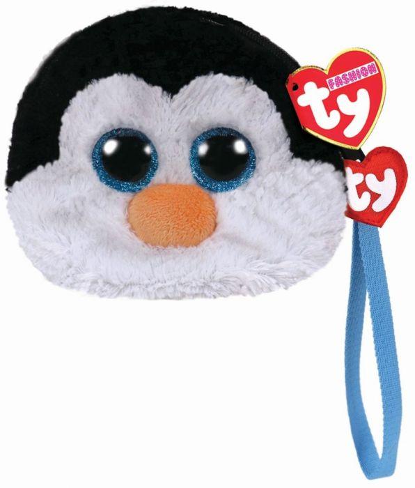 Gentuta De Mana Din Plus, Pinguinul Waddles TY, 10 cm, 3 ani+