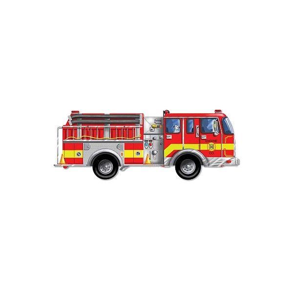 Puzzle de podea Masina de pompieri Melissa & Doug, gigant, 3 ani+