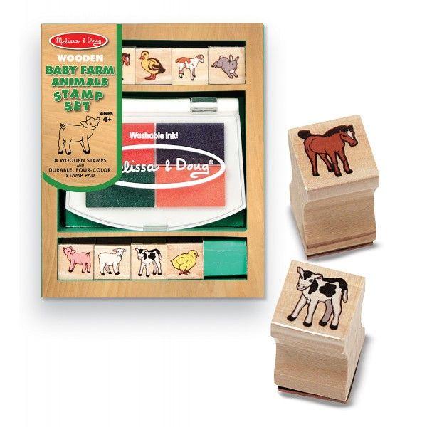 Set stampile Pui de animale domestice Melissa & Doug, 4 ani+