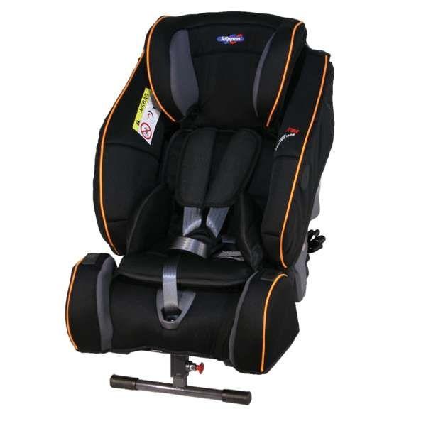 Scaun auto Century Klippan Black/Orange, 9-25 kg, Rear-facing, Negru