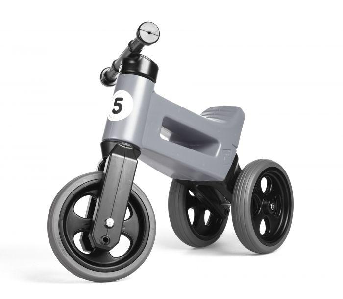 Bicicleta fara pedale 2 in 1 Rider Sport Funny Wheels Grey, 12 luni+