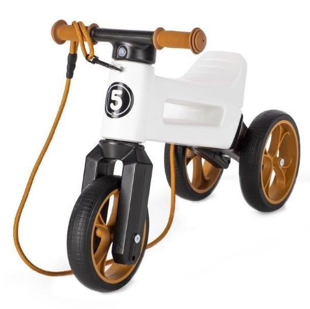 Bicicleta fara pedale 2 in 1 Rider SuperSport Funny Wheels Pearl, 12 luni+