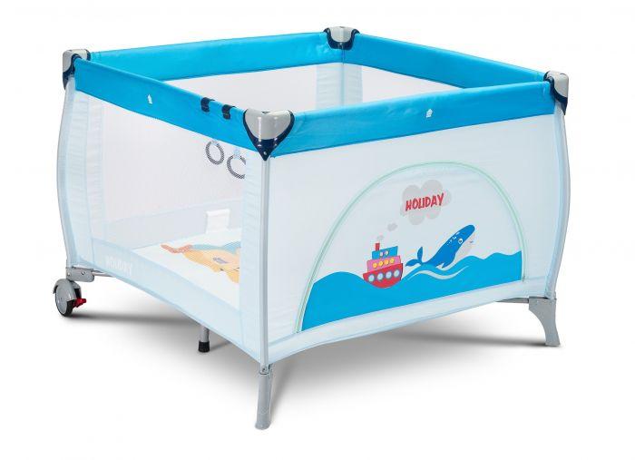 Tarc de joaca Holiday Caretero Blue, 100x100cm