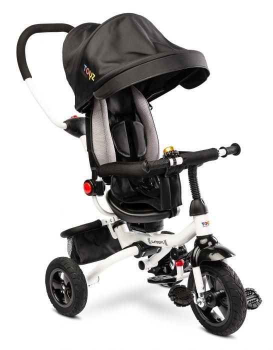 Tricicleta pliabila Wroom Toyz Black cu scaun reversibil, 18 luni+