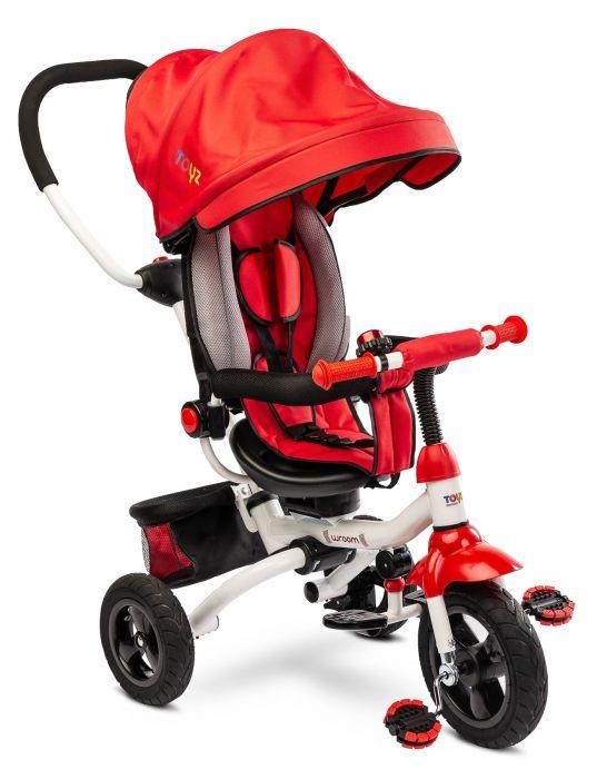 Tricicleta pliabila Wroom Toyz Red, cu scaun reversibil, 18 luni+