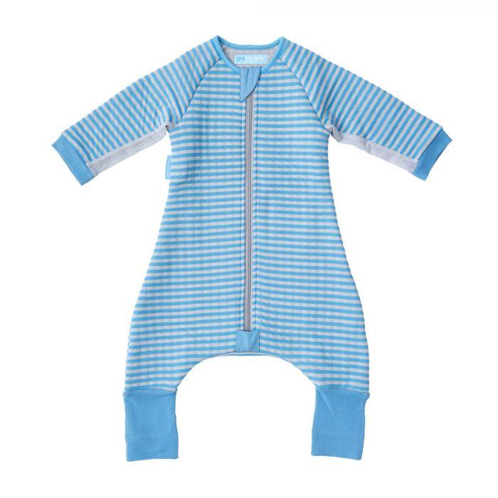 Sac de dormit Gro Dungi Albastre, cu picioare si maneci, 24 - 36 luni