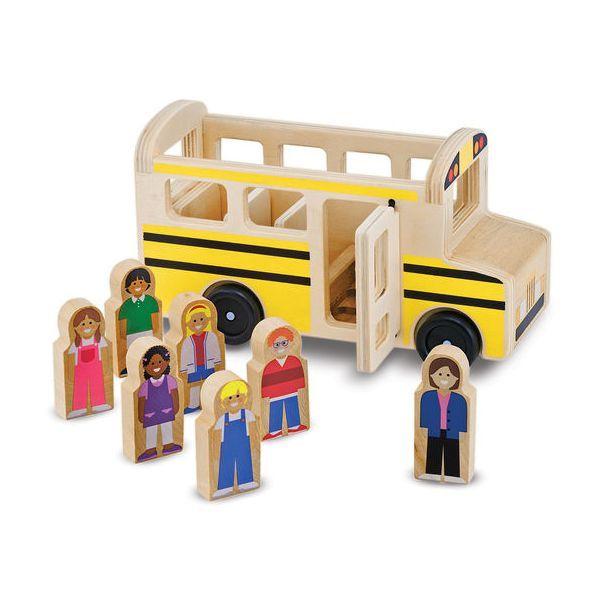 Autobuz cu pasageri Melissa & Doug, din lemn, 3 ani+