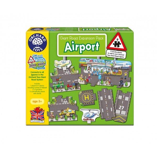 Puzzle gigant de podea Aeroport Orchard, 9 piese, 36 luni+