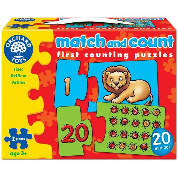 Puzzle Potriveste si Numara de la 1 la 20 Orchard, 36 luni+