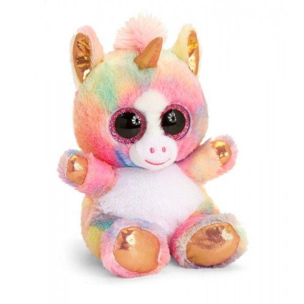 Plus Animotsu, Unicornul Auriu, Keel Toys, 15 cm, 3 ani+