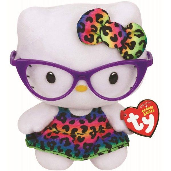 Plus Beanie Babies, Hello Kitty Fashionista TY, 15 cm, 3 ani+