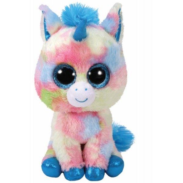 Plus, Boos Blitz Unicorn Albastru TY, 15 cm, 3 ani+