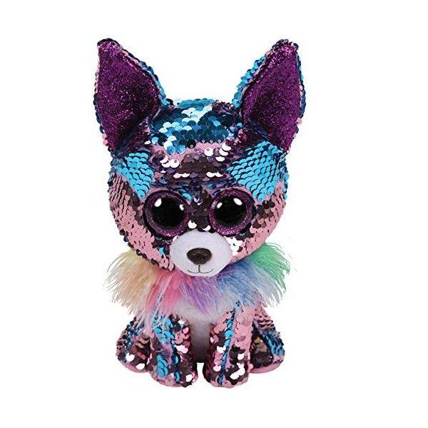 Plus Boos, Catel Chihuahua Cu Paiete TY, 15 cm, 3 ani+