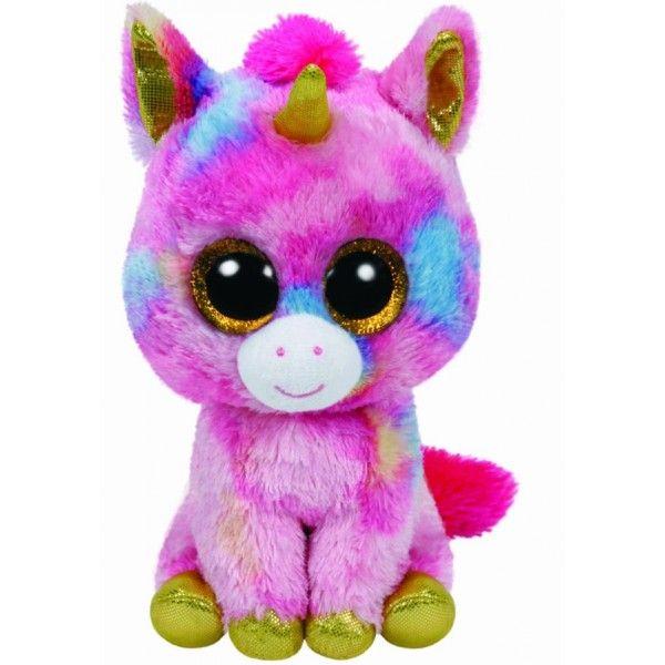 Plus Boos, Fantasia Unicorn Multicolor TY, 24 cm, 3 ani+