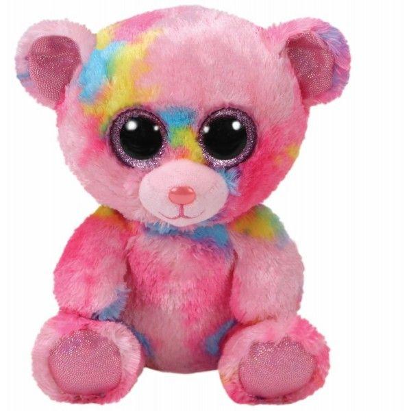 Plus Boos, Franky Ursulet Multicolor TY, 15 cm, 3 ani+
