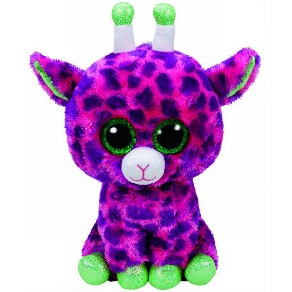 Plus Boos, Gilbert Girafa Roz TY, 24 cm, 3 ani+